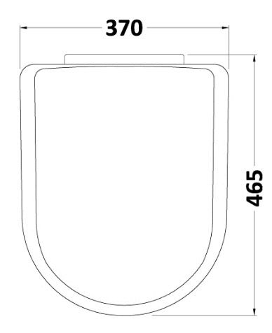 D Shaped Soft Close Toilet Seat With Top Fixings